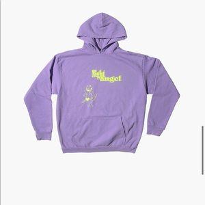 boys lie night angel oversized hoodie